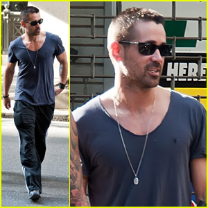 Colin Farrell: Philly with a Friend!