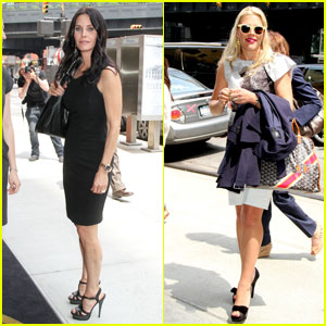 Courteney Cox & Busy Philipps: TNT/TBS Upfront Lunch