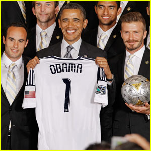 President Obama Honors David Beckham & L.A. Galaxy