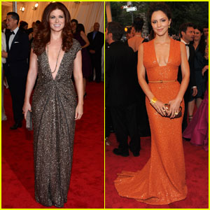Debra Messing &#038; Katharine McPhee - Met Ball 2012