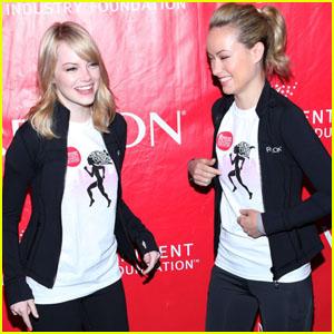Emma Stone & Olivia Wilde: Revlon Runners!