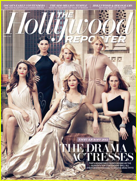 January Jones, Emmy Rossum & Kyra Sedgwick Cover 'THR'