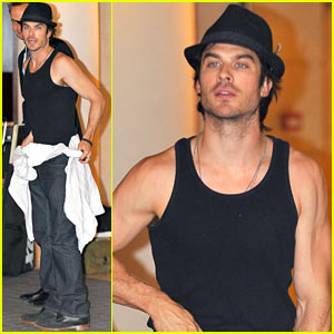 Ian Somerhalder: Sculpted Arms in Paris!