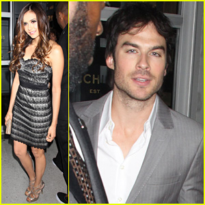 Ian Somerhalder & Nina Dobrev: CW Upfront After Party!