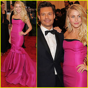 Julianne Hough & Ryan Seacrest - Met Ball 2012