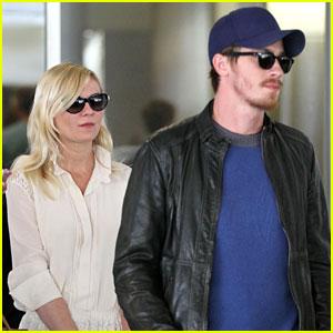 Kirsten Dunst & Garrett Hedlund: Home from Cannes!
