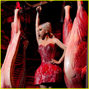 Lady Gaga: Meat Dress for 'Born This Way Ball'