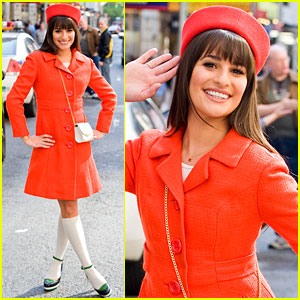 Lea Michele: Rachel Berry Goes to Broadway! (Exclusive)
