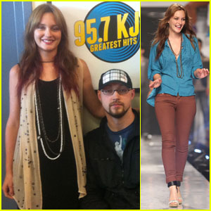 Leighton Meester: Radio Station Stops in Seattle!