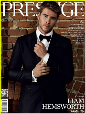 Liam Hemsworth Covers 'Prestige Hong Kong' May 2012