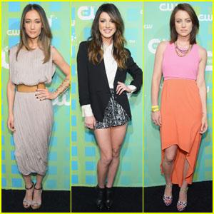 Maggie Q, Shenae Grimes & Jessica Stroup: CW Upfront!
