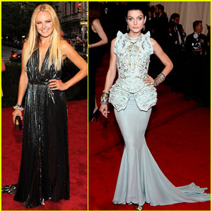 Malin Akerman & Jessica Stam - Met Ball 2012