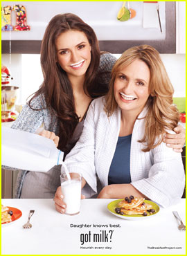Nina Dobrev: got milk? Ad with Mom Michaela!