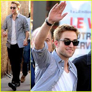 Robert Pattinson Meets Fans at 'Le Grand Journal'