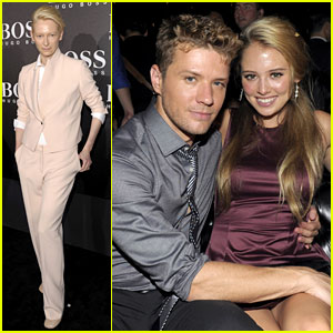 Tilda Swinton &#038; Ryan Phillippe: BOSS Black Fashion Show!