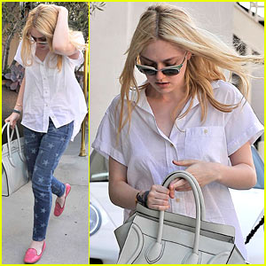 Dakota Fanning: Starry Stroll in Beverly Hills
