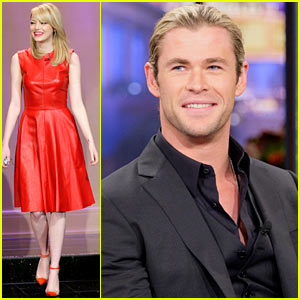 Emma Stone &#038; Chris Hemsworth: 'Tonight Show' Guests!