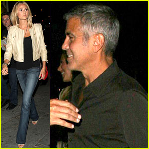 George Clooney & Stacy Keibler: Double Date Night!