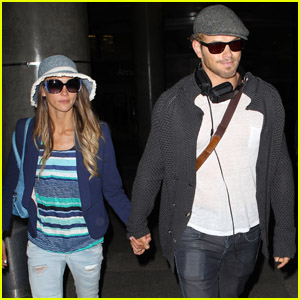 Kellan Lutz & Sharni Vinson: Back from Milan!