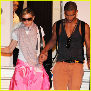 Madonna & Brahim Zaibat Touch Down in Turkey