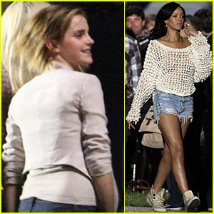 Rihanna: 'End of the World' Set with Emma Watson!