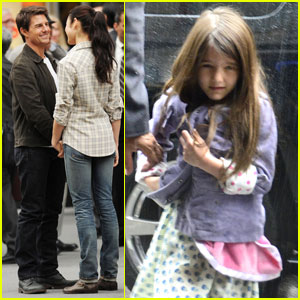 Tom Cruise: 'Oblivion' Set with Suri & Olga