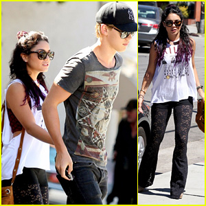 Vanessa Hudgens: Sun Cafe with Austin Butler!