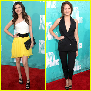 Shailene Woodley & Victoria Justice - MTV Movie Awards 2012