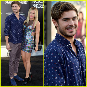 Zac Efron: 'Rock of Ages' Premiere with Ashley Tisdale!