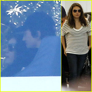 Ashton Kutcher & Mila Kunis Cuddle at Soho House!
