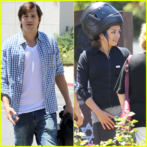 Ashton Kutcher & Mila Kunis: Sunday with Family