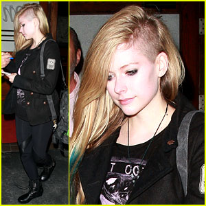 Avril Lavigne: Shaved Haircut at Madeo!