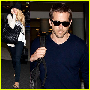 Blake Lively & Ryan Reynolds Land in Los Angeles
