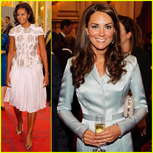 Duchess Kate & Michelle Obama: Heads of State Reception!