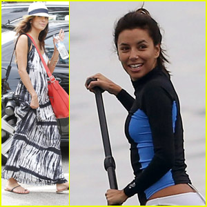 Eva Longoria: Birthday Party &#038; Paddle Boarding!