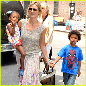 Heidi Klum: Broadway's 'Newsies' with the Kids!