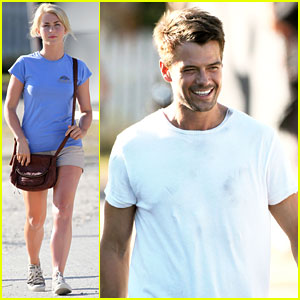 Josh Duhamel: 'Safe Haven' Set with Julianne Hough!