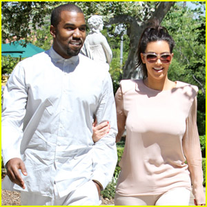Kanye West & Kim Kardashian: Saturday Stroll