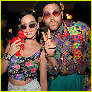 Katy Perry & Amber Heard: Johnny Wujek's Rollerskating Birthday Party!
