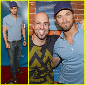 Kellan Lutz: DC Entertainment 'Darkness & Light' Party!