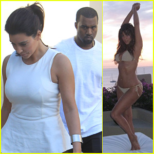 Kim Kardashian: Bikini Sunrise Summertime Shoot!