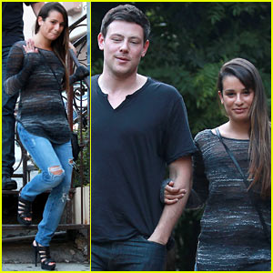 Lea Michele & Cory Monteith: Pace Dinner Date!