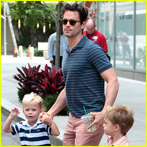 Matt Bomer Hails a Cab with Henry & Walker!