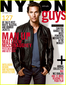 Matthew McConaughey Covers 'Nylon Guys' September 2012