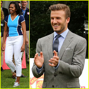 Michelle Obama & David Beckham Prep for London Olympics!