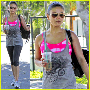 Mila Kunis: Dance Studio Weekend!