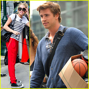 Miley Cyrus Visits Liam Hemsworth on 'Paranoia' Set!