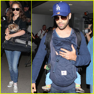 Natalie Portman: LAX Family Arrival!