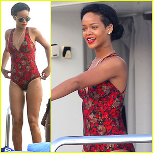 Rihanna Continues Yacht Vacation in France