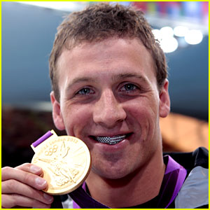 Ryan Lochte: American Flag Grill at London Olympic Games!